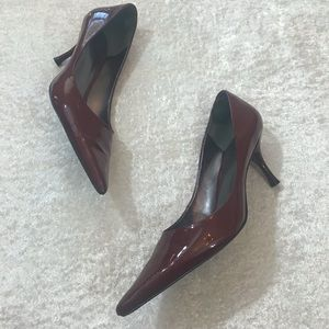 GUC Nine West Patent Leather Pointed Heel Red